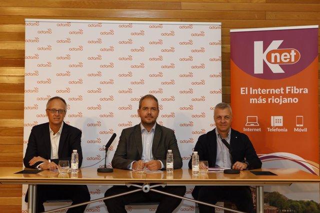 Adamo y KNET, rueda de prensa en Logroño