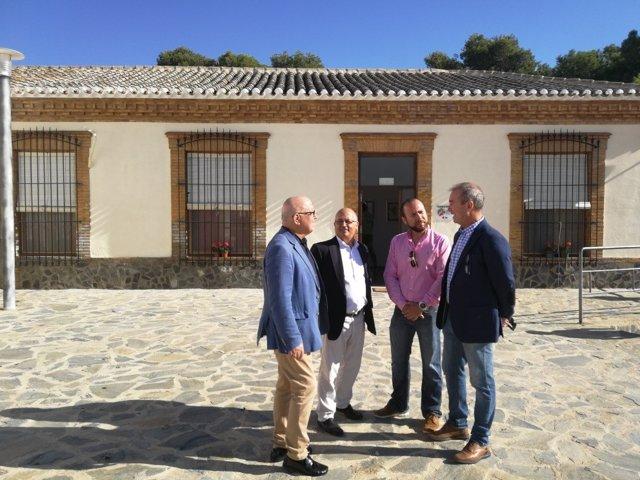Manuel Padín, Luis Fernández, Rubén Tardido y Andrés Belluga