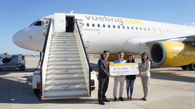 Pasajero 7 millones de Vueling en Valencia