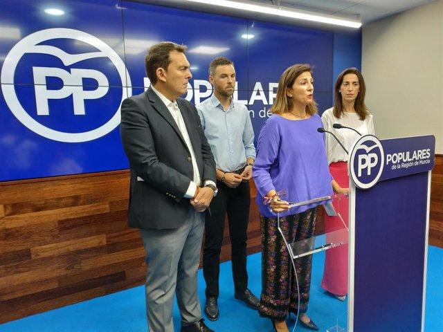 De izquierda a derecha, Ruano, García, Borrego y Fuentes