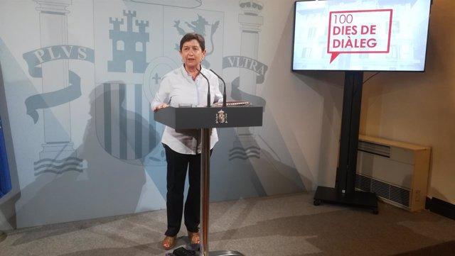 La delegada del Gobierno en Catalunya Teresa Cunillera