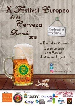 Cartel del Festival Europeo de la Cerveza de Laredo