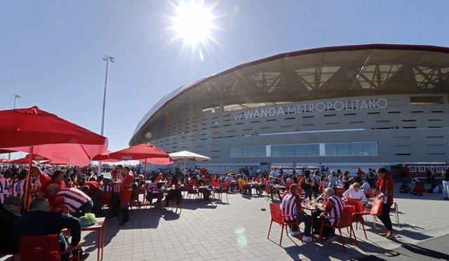 El Wanda Metropolitano en el Día de las Peñas del Atlético de Madrid