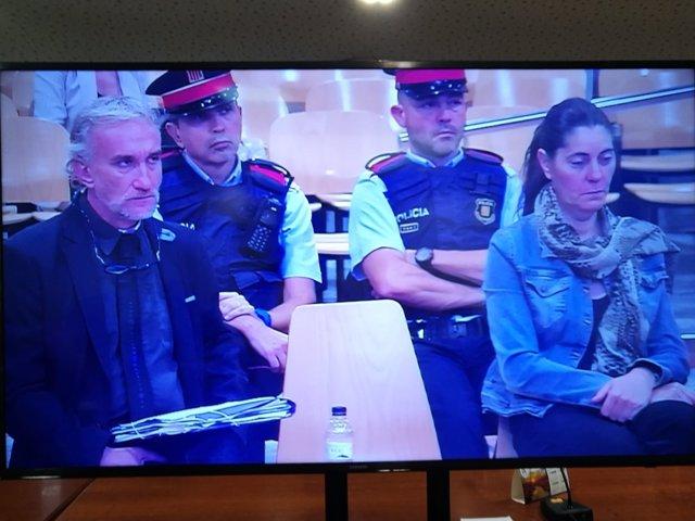 Fernando Blanco y Marga Garau, padres de Nadia, en el juicio