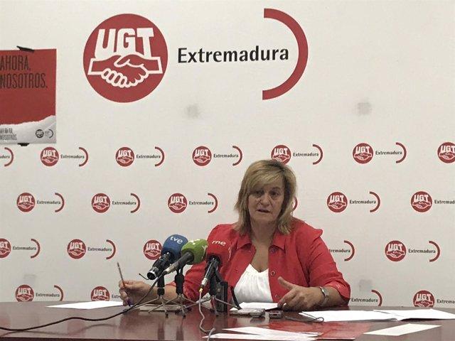 La secretaria de FeSP-UGT Extremadura, María Ángeles Rodriguez