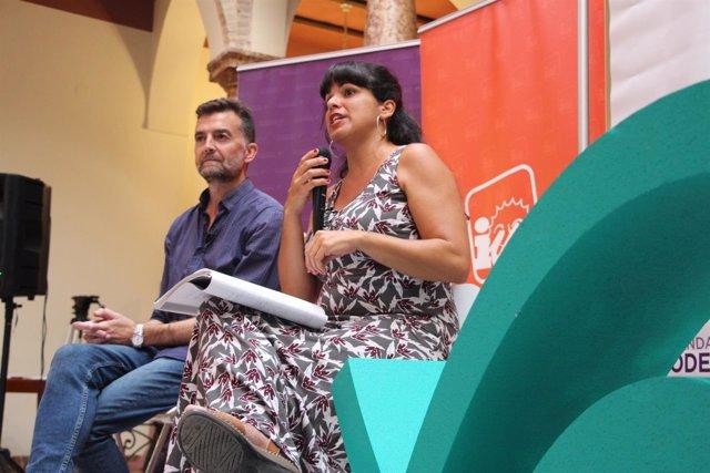 Antonio Maíllo y Teresa Rodríguez en Lucena