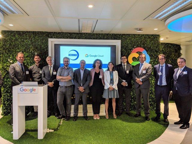 Presentación del acuerdo entre Acerinox y Google Cloud