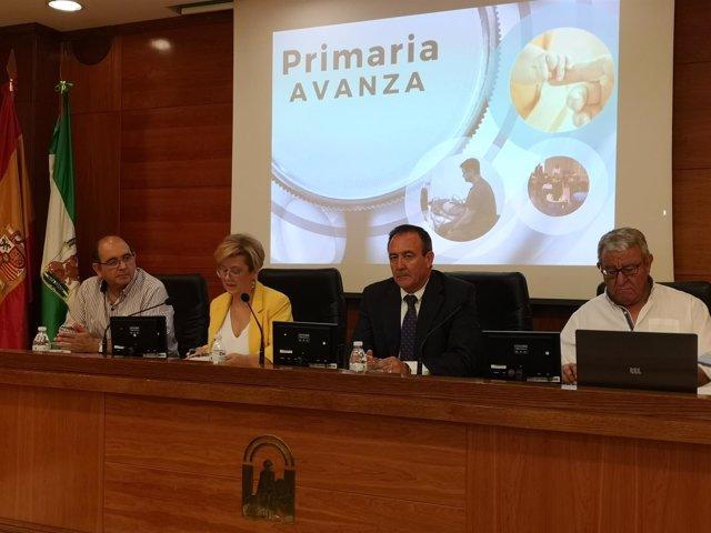 Teresa Vega durante la rueda de prensa