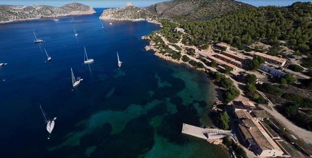 Vista aérea de la Isla de Cabrera