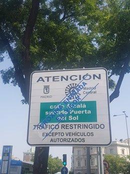 Madrid Central restringe el acceso al centro de Madrid