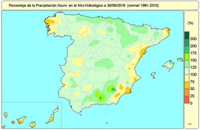 El año hidrológico 2017-2018 ha sido húmedo