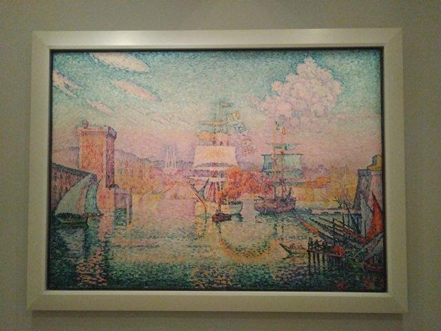 Cuadro de Paul Signac en la exposición 'Redescubriendo el Mediterráneo'