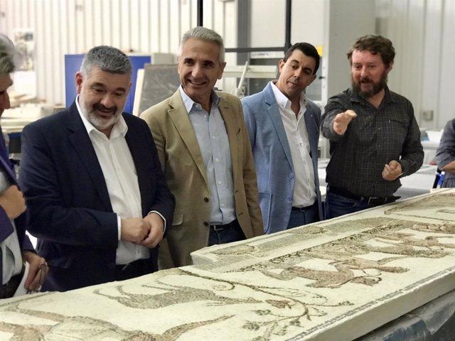 El mosaico 'Los amores de Zeus' regresará a Écija en diciembre