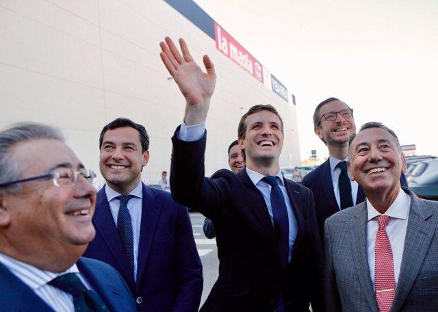 Pablo Casado, este viernes en Sevilla
