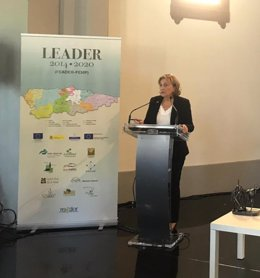 Delia Losa en el acto de entrega del I Primer Premio Mujer Rural