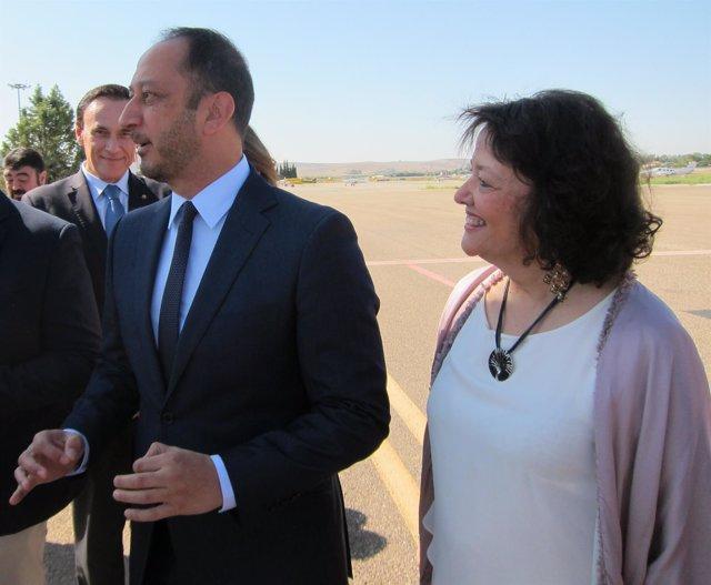 Gómez de Celis y la subdelegada en Córdoba