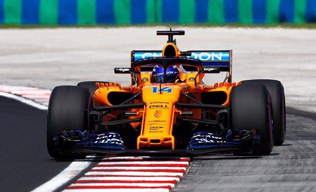 Fernando Alonso (McLaren) en Hungría