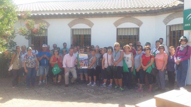 Algar (centro), con los participantes en las jornadas