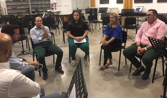 Reunión de la alcadesa con la Banda de Música.