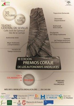 Cartel de los III Premios Coraje de los Autónomos andaluces