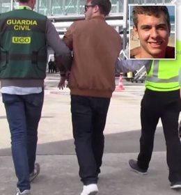 La Guardia Civil traslada al presunto asesino de la familia brasileña de Pioz