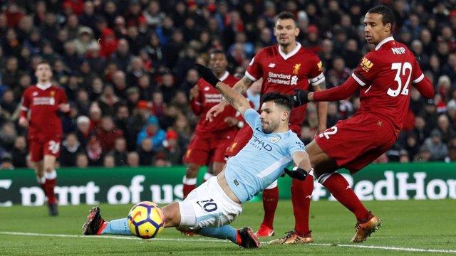 Agüero en el Liverpool - Manchester City