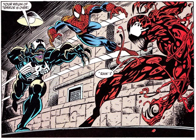Venom, Matanza y Spiderman