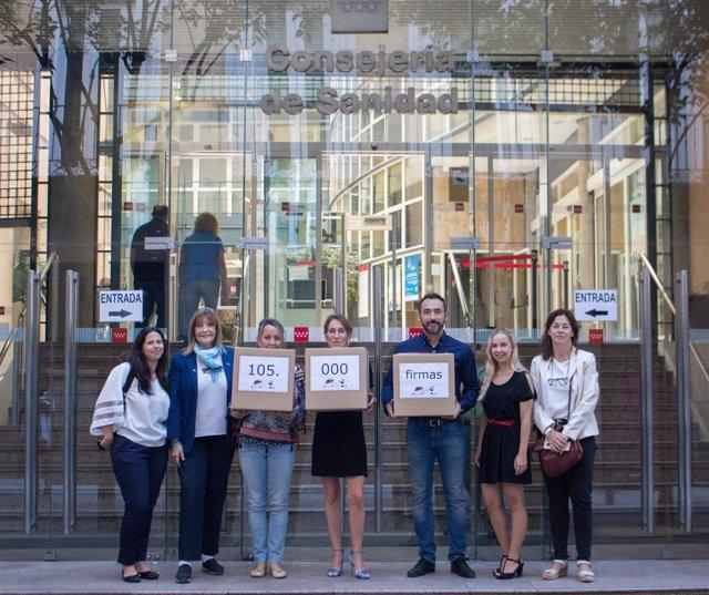 Registro De Firmas En La Consejería De Sanidad De Madrid