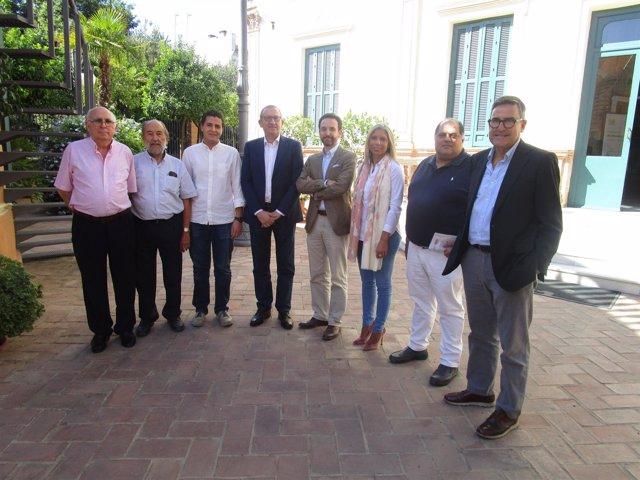 Representantes de la Plataforma por la Justicia Fiscal en Andalucía