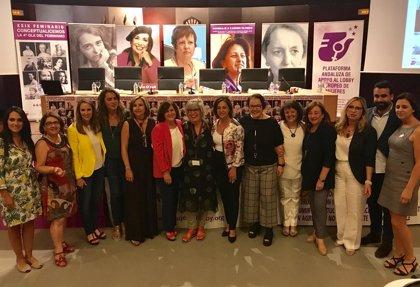 La consejera de Igualdad resalta la participación de Andalucía en la cuarta ola del feminismo