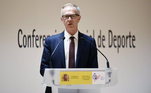 José Guirao, tras la constitución de la I Conferencia Sectorial de Deporte