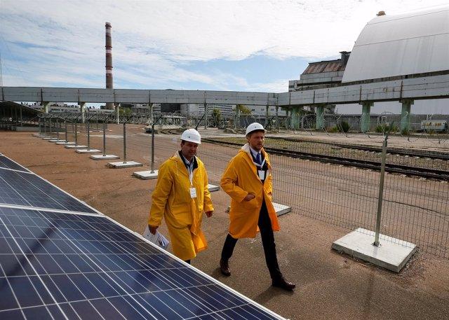 Planta solar en Chernóbil