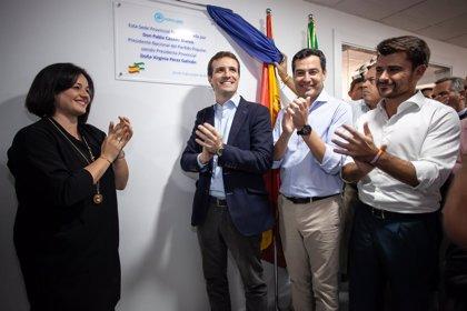 Casado inaugura la nueva sede del PP junto a Moreno, la cúpula provincial, Zoido, Arenas y Maroto