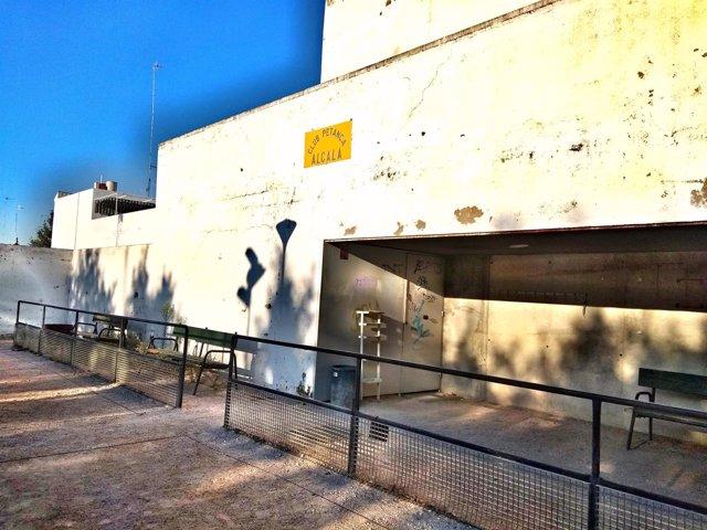 Instalaciones del club de petanca de Alcalá de Guadaíra