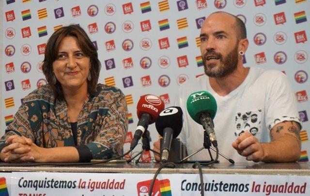 Ismael Ballester, junto a Rosa Pérez Garijo (EU)