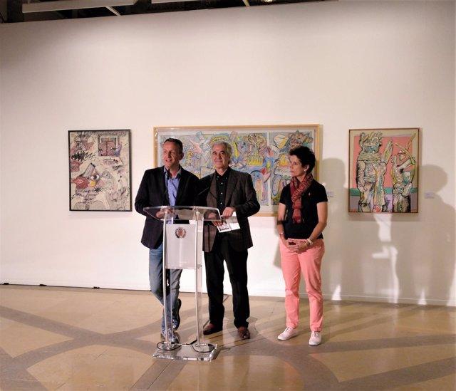 Presentación de la exposición de Sergio Abraín en La Lonja.