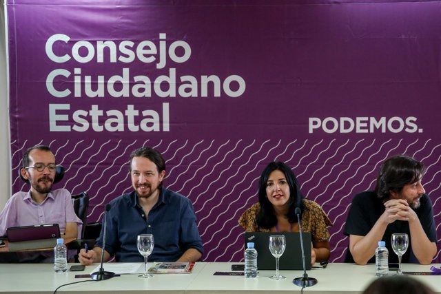 El secretario general de Podemos, Pablo Iglesias, participa en el Consejo Ciudad