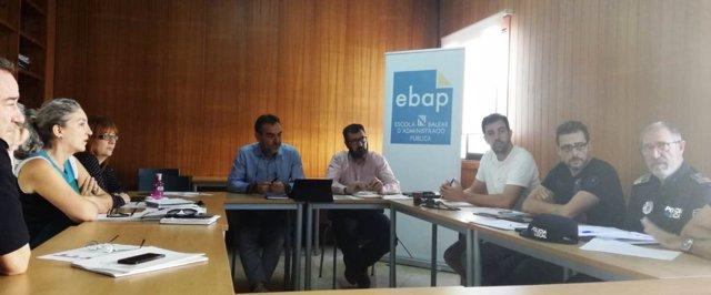 Reunión con  jefes de Policía Local de Ibiza por la creación de plazas fijas