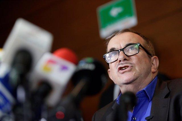 Colombian former FARC rebel leader Rodrigo Londono, known by his nom de guerre T