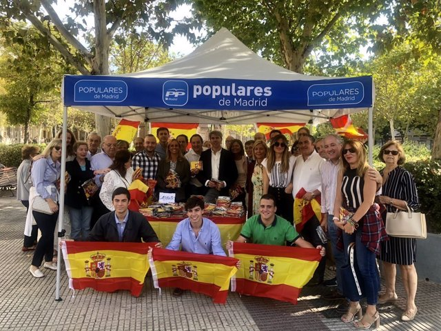 EL PRESIDENTE DE LA COMUNIDAD DE MADRID, ÁNGEL GARRIDO, EN UN ACTO EN CHAMBERÍ