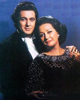 Plácido Domingo y Montserrat Caballé