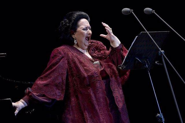 Foto de archivo de Montserrat Caballé