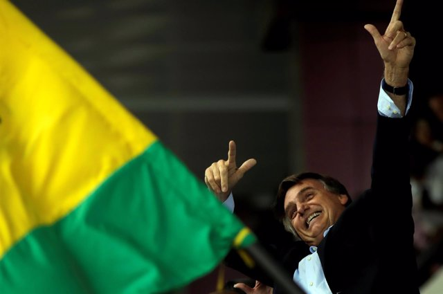 El candidato presidencial Jair Bolsonaro
