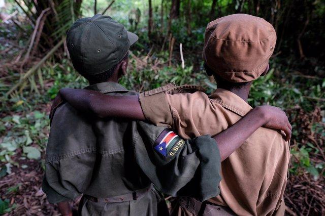 Antiguos niños soldado desmovilizados en Sudán del Sur
