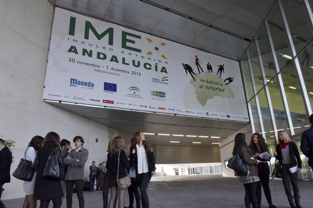 Fachada de entrada de IMEX Andalucía