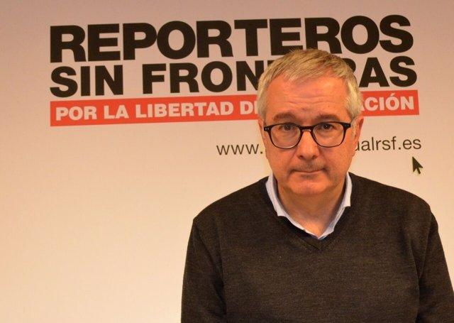 El presidente de Reporteros Sin Fronteras, Alfonso Armada