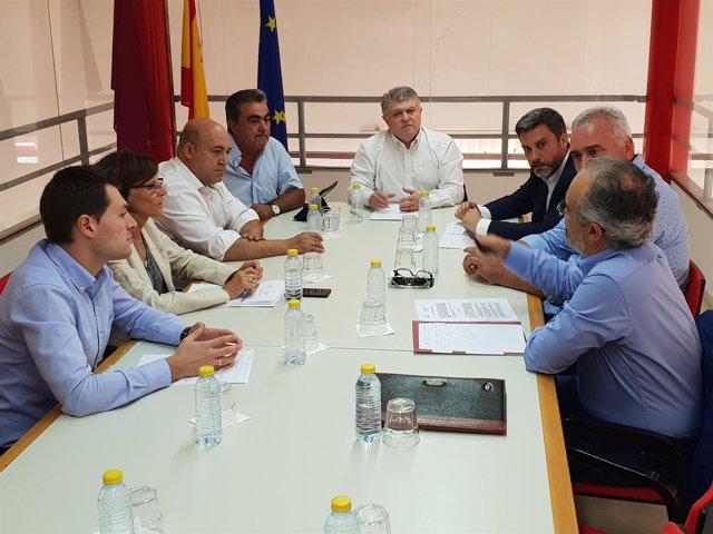 Joaquín López Pagán en la reunión sobre fracking