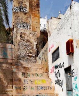 Estado actual de una de las murallas