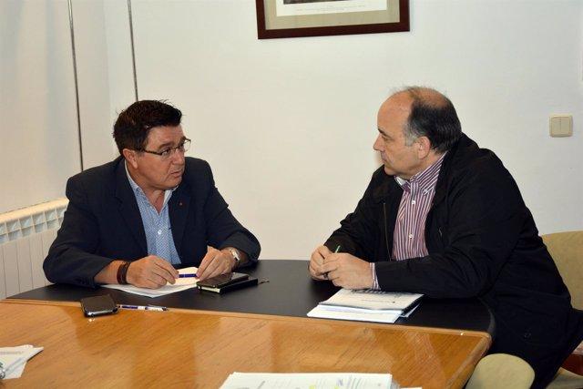 García con el subdirector de Adif