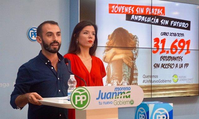 Kike Rodríguez y Loli Caetano NNGG-A y Málaga PP jóvenes
